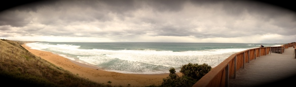 Pano at Logans Beach.